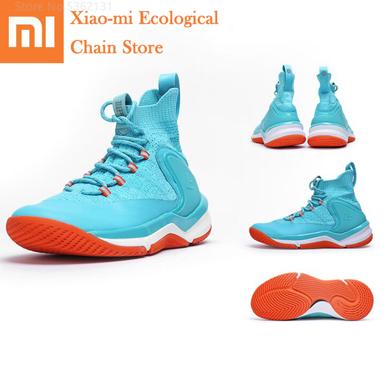 Xiaomi FREETIE Men Basketball Shoes Male Outdoor Sneakers Fly Woven Upper Cushioning High Elastic Sneakers Sports Shoes For Men