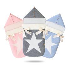 Baby Sleeping Bag Envelope For Discharge Winter Newborns Stroller Sleep Sack Five Star Knitted Infantil Bebes Envelopes 0-6Month