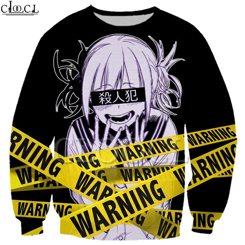Drop Shipping Anime Girl Toga Himiko My Hero Academia Sweatshirt Men Women 3D Print Warning Casual Couple Pullovers