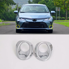 Fit For Toyota Corolla E210 Sedan 2019 2020 Car Styling ABS Front/Rear Fog Light Lamp Decor Cover Trim 2pcs Auto Accessories
