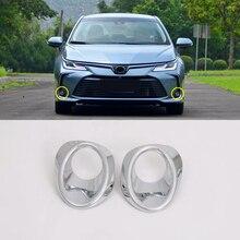 도요타 corolla e210 세단에 적합 2019 2020 자동차 스타일링 abs 전면/후면 안개등 램프 장식 커버 트림 2pcs 자동차 액세서리
