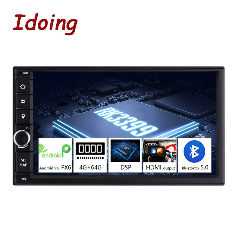 "Idoing 2 din 7 ""PX6 4G + 64G Hexa-Core Android 9.0 Bluetooth 5.0 HDMI USB universal Car GPS Navi DSP Radio Multimedia Player no dvd"