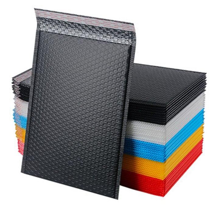 20pcs 18x23cm Pink Blue Black White  Bubble Envelop Bubble Mailer For Gift Packaging & Wedding Favor Bag&Mailing Envelopes