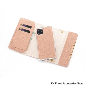 Image 5 - Glitter Crossbody Fall Für iPhone SE 2020 11 Pro Max 6 6s 7 8 Plus X XR Flip Leder dame Schulter Tasche Abnehmbare Telefon Fällen