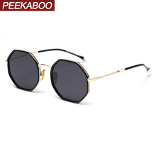 Peekaboo octagonal sunglasses men polarized 2020 trend polyg