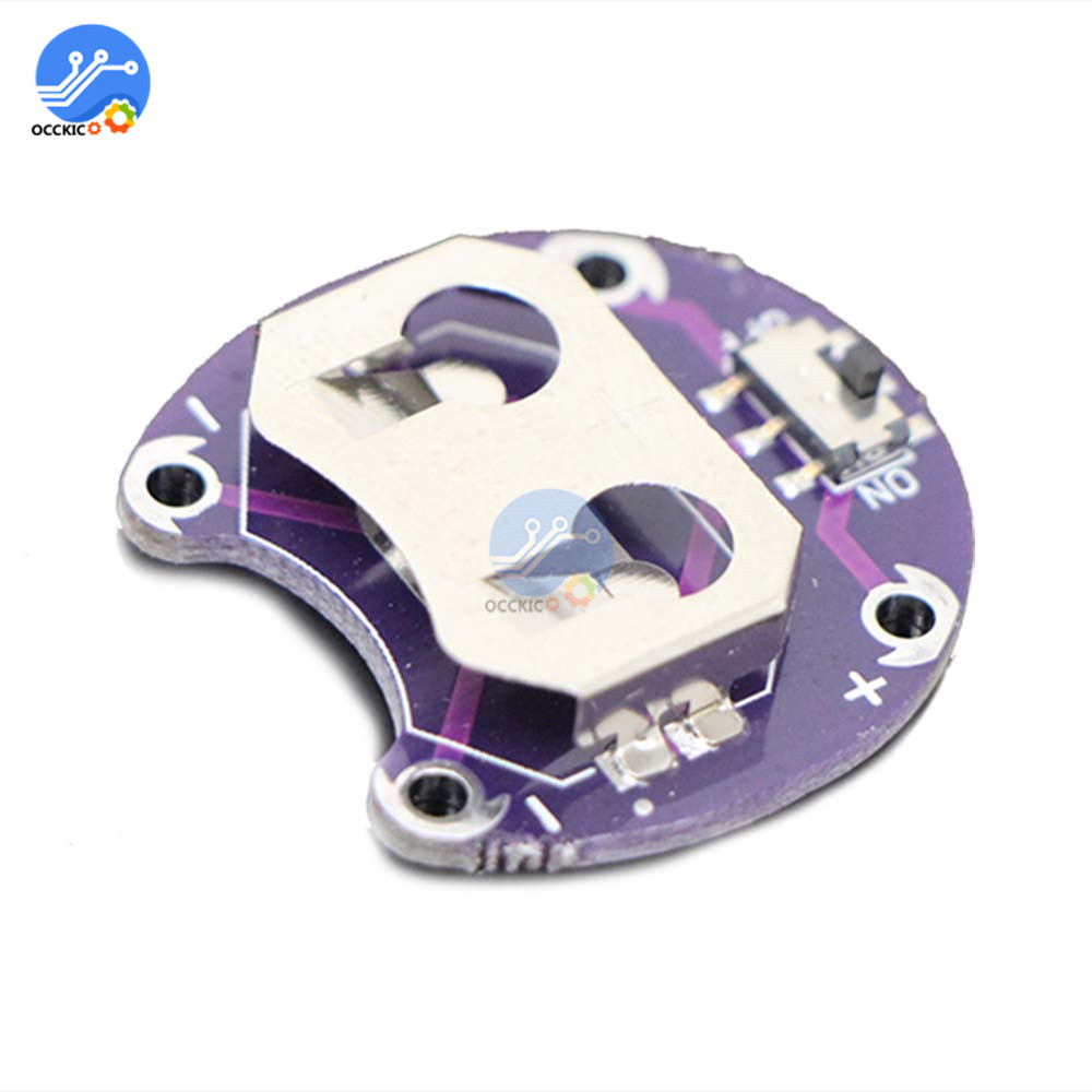 LilyPad Coin Cell Battery Holder CR2032 Battery Mount Module With Slide Switch Board For Arduino