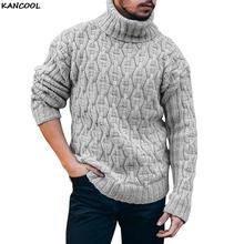 KANCOOL męskie swetry zagęścić ciepły sweter z golfem męskie swetry z dzianiny jednolity kolor z długim rękawem sweter z dzianiny sweter Top tanie tanio CN (pochodzenie) Standardowy wełny Na co dzień Komputery dzianiny Poliester Akrylowe Stałe women sweater Pełna REGULAR