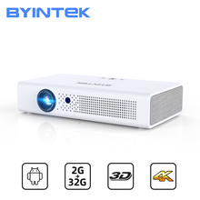 BYINTEK R19 Full HD 1080P 2K 3D 4K 300inch Smart Android WIFI Video LED Portable Mini DLP ProjectorBeamer Projetor for Cinema