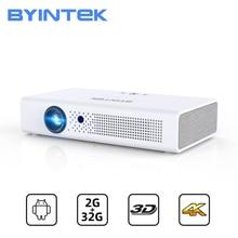 BYINTEK miniproyector portátil R19, Full HD, 1080P, 2K, 3D, 4K, 300 pulgadas, Android, WIFI, para cine