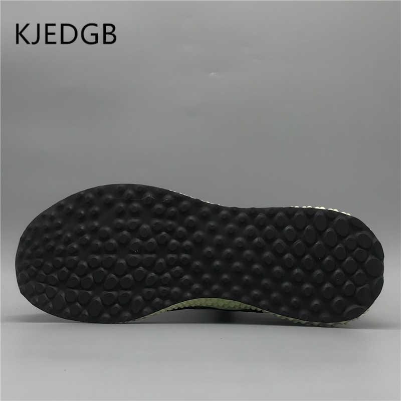 KJEDGB 2019 Trend Stijl Heren Sneakers Lace-Up Mesh Comfortabele Platte mannen Schoenen Flyknit Ademend Heren Outdoor Casual schoenen