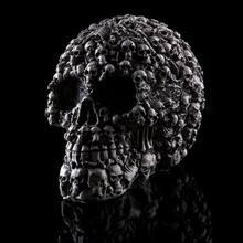 Modelo crânio decoração interior do dia das bruxas dia das bruxas resina crânio cabeça toda uma pessoa cabeça fazer crânio molde casa