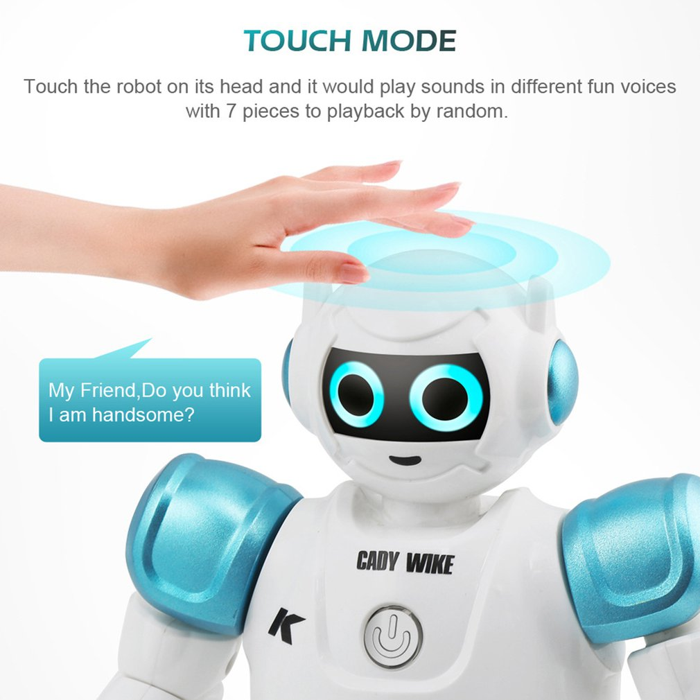 RC Remote Control Robot Smart Action Walk Sing Dance Action Figure Gesture Sensor Toys Gift for children image