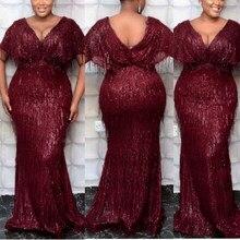 MD – robe longue à paillettes pour femmes, grande taille, Slim, moulante, Sexy, Robes brillantes, élégantes, Sexy, été, 2020