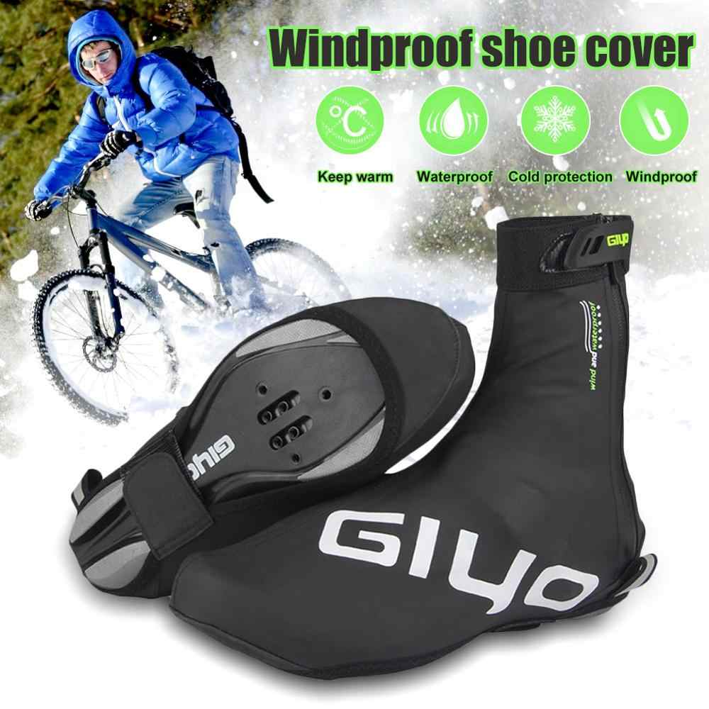 Cycling Shoe Cover Warm Windproof Waterproof PU Protector Overshoes Equipment