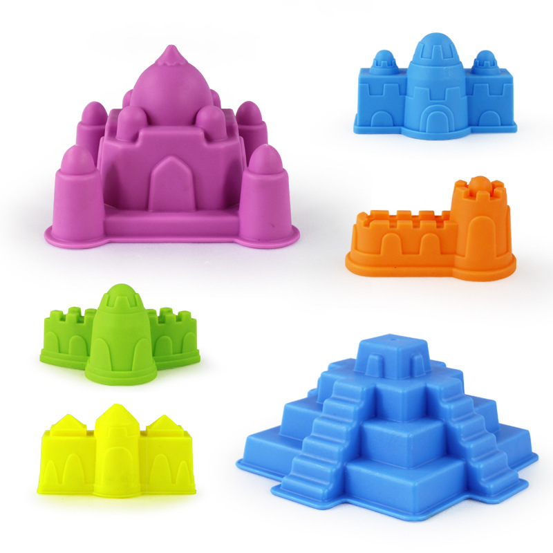 Children Beach Castle 6 Pieces Sand Playing Tool Set Baby Play With Water Kindergarten Sand Mould Low Price Wholesale