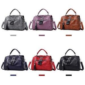 Image 4 - Fashion Leather Handbags Women Bags Designer Shoulder Crossbody Handbag Women Large Capacity Tote Messenger Bag Bolsa Sac A Main