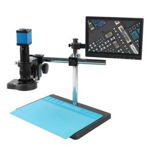 14MP 1080P HDMI VGA электронный цифровой промышленный 180X 300X C крепление видео микроскоп камера для ремонт телефона PCB