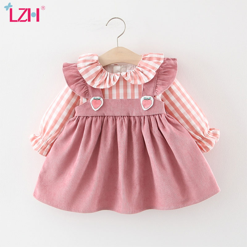 LZH 2020 New Autumn Leisure <font><b>Dresses</b></font> For Baby Girls Long Sleeve Infant Party <font><b>Dress</b></font> Kids <font><b>Dress</b></font> Newborn <font><b>Birthday</b></font> <font><b>Dress</b></font> 0 1 <font><b>2</b></font> 3 Year image