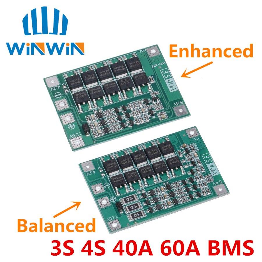 3 s 40a li-ion bateria de lítio carregador placa de proteção pcb bms para 40a corrente broca motor 11.1 v 12.6 v lipo celular módulo equilíbrio