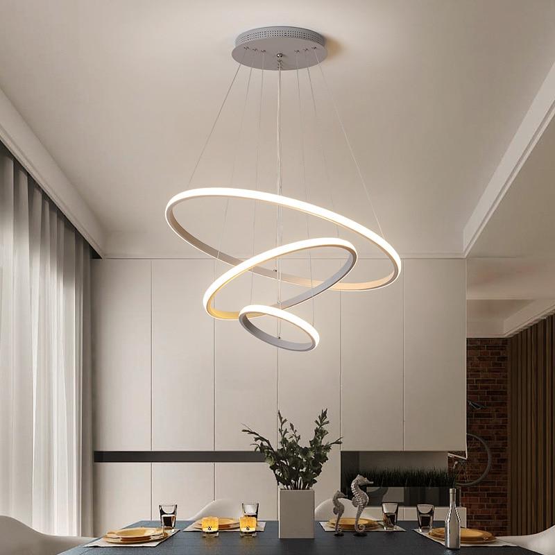 White&Black&Coffee&Golden Modern LED Pendant Lights For Living Room Dining Room Bedroom Kitchen Hot Sale Minimalist Pendant Lamp