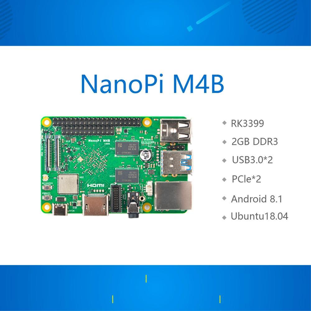 Новая дружественная RK3399 NanoPi M4B PCIe расширение 2G память двойная камера 4K воспроизведение Android 8