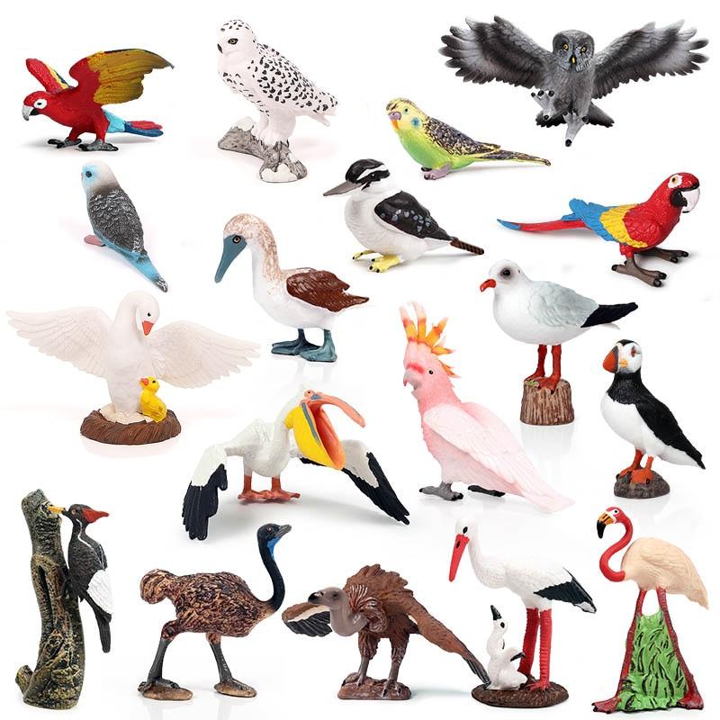 Искусственная живопись, индейка, фламинго, попугай, сова, морской Орел, Страус, искусственная ПВХ, детские игрушки
