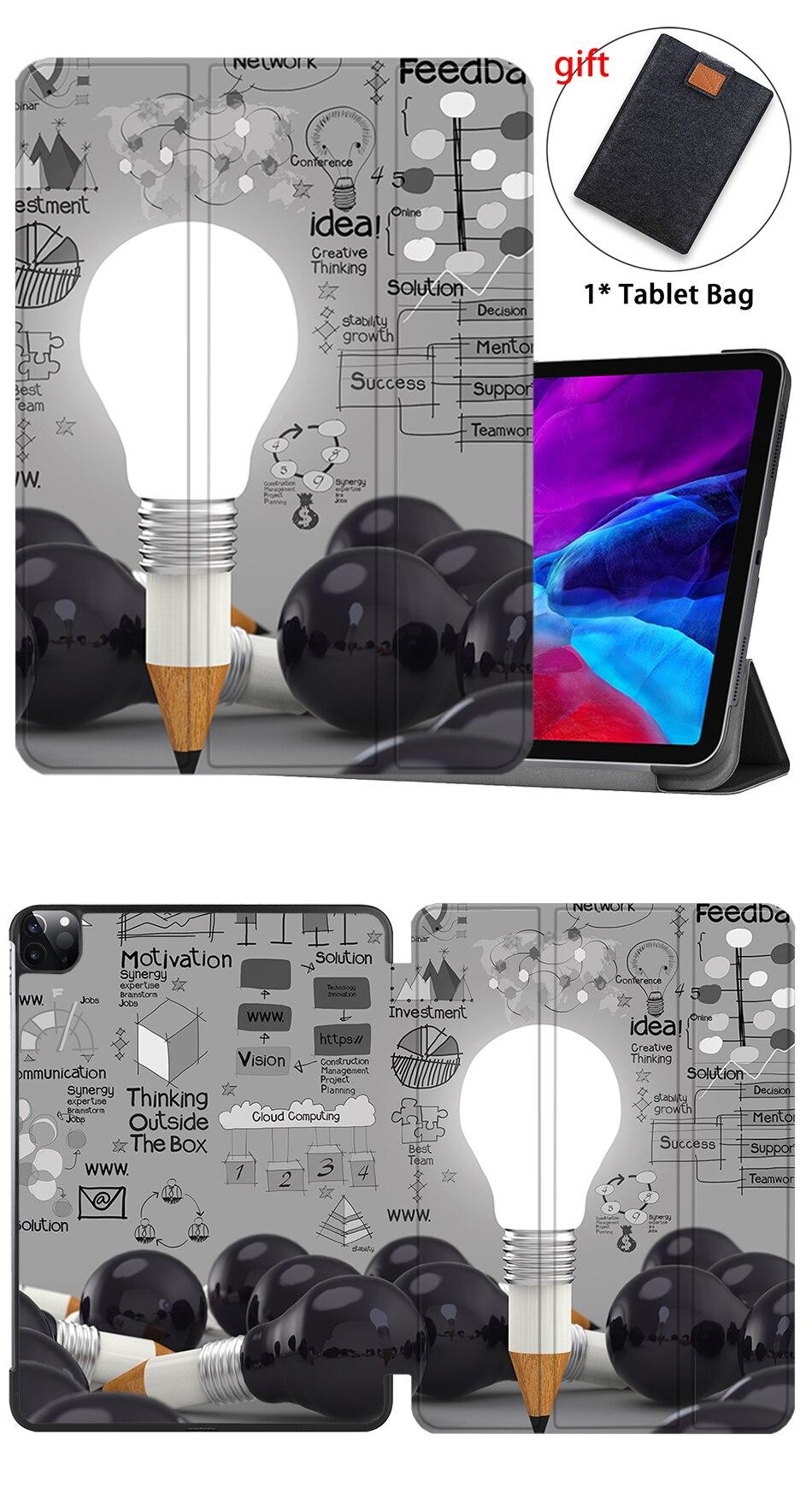 Leather MTT Slim 2018 Pro Generation For Smart Stand 3rd Flip iPad PU Case funda 12.9