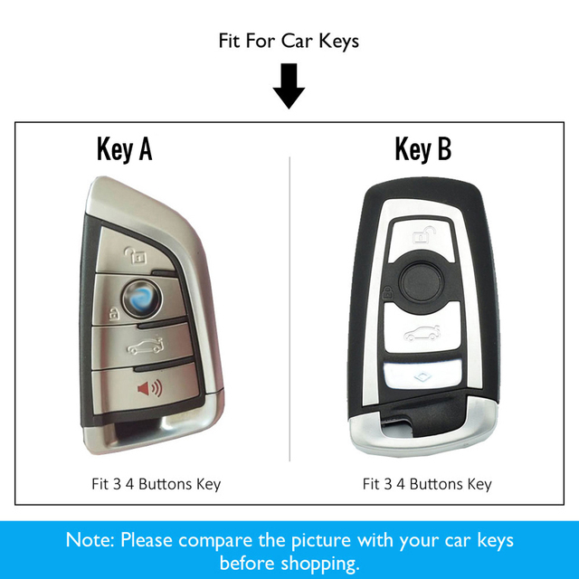 Étui à clés de voiture BMW F21 F22 F35 F30 F07 F06 F25 F26 F80   En alliage de Zinc et en cuir, sac de protection de distance, accessoires de voiture