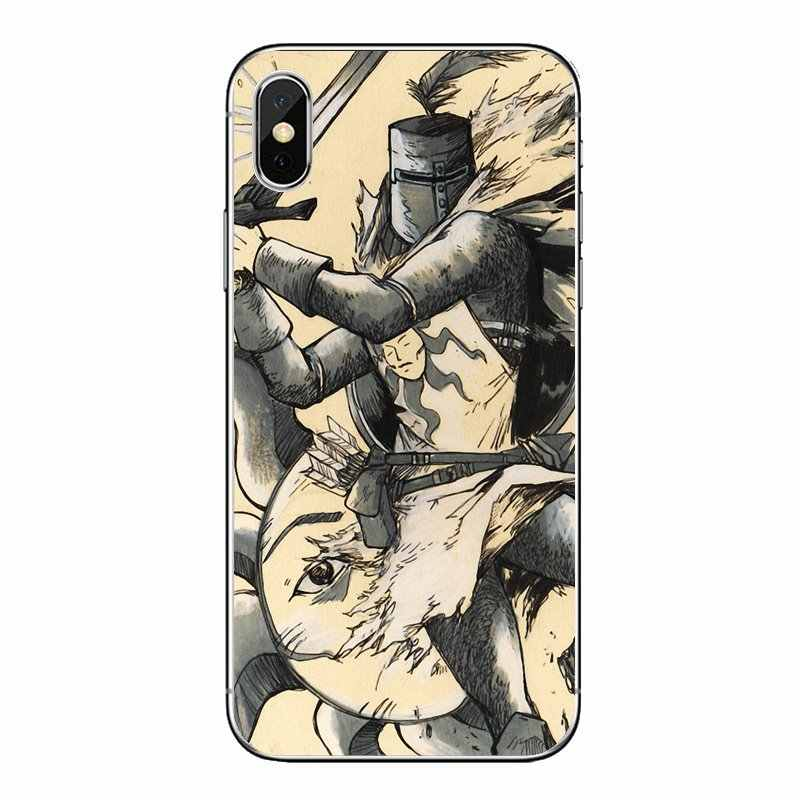 Lob der Sonne Dark Souls Für iPod Touch iPhone 4 4S 5 5S 5C SE 6 6S 7 8 X XR XS Plus MAX Weiche Transparente Fällen Abdeckungen