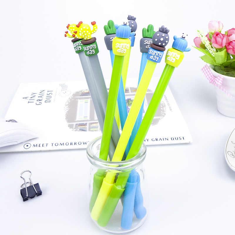 1 sztuk Kawaii zielone rośliny długopis magia Pilot długopis szkolne materiały biurowe do pisania szkolne materiały papiernicze długopis