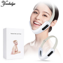 Chin V-Line Up Lift Belt Red Blue LED Photon Therapy Face Slimming Vibration Massager Facial Lifting Device Double Chin V Face