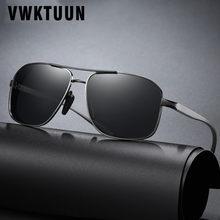 Vwktuun alumínio magnésio óculos de sol homem polarizado revestimento espelho sombra masculino óculos de sol uv400 para condução glasses
