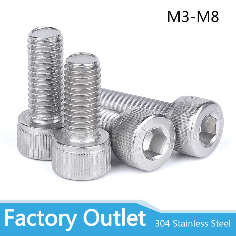 M4 M5 M6 M8 A2 STAINLESS STEEL SOCKET BUTTON HEAD BOLT NYLOC NUT /& WASHER SET