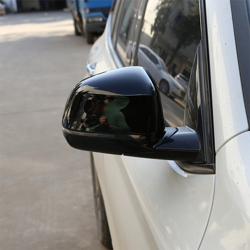 2pcs Glossy Black Exterior Side Rearview <font><b>Mirror</b></font> Cap <font><b>Cover</b></font> Trim For <font><b>BMW</b></font> <font><b>X3</b></font> X4 <font><b>G01</b></font> G02 2018 2019 Car Accessories image