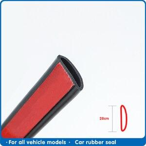 Image 1 - Araba kapı contası şerit kapı contası şerit D tipi kauçuk conta ses yalıtımı Epdm araba kauçuk su geçirmez contalar otomatik kapı şeridi