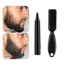 Lápiz para crecimiento de barba, herramienta para reparación de barba, forma de lápiz, potenciador de barba, resistente al agua, moldeador, producto de belleza antipérdida de cabello
