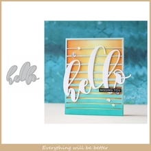 Hello Words Letter Alphabet Metal Cutting Dies DIY Handmade Scrapbook Craft Make Cards Embossing Paper New Die Cut Hot Template cute baby clothes bow lace leather belt button metal cutting dies diy scrapbook craft new stencils make cards embossing paper