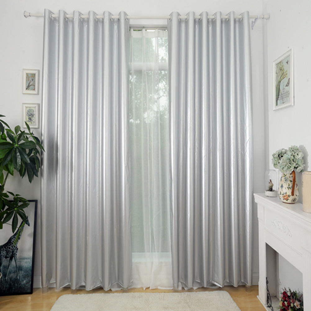 Solid Home Office Blackout Curtains Window Treatment Thickened Living Room With Hook Thermal Insulated Rectangle For Bedroom