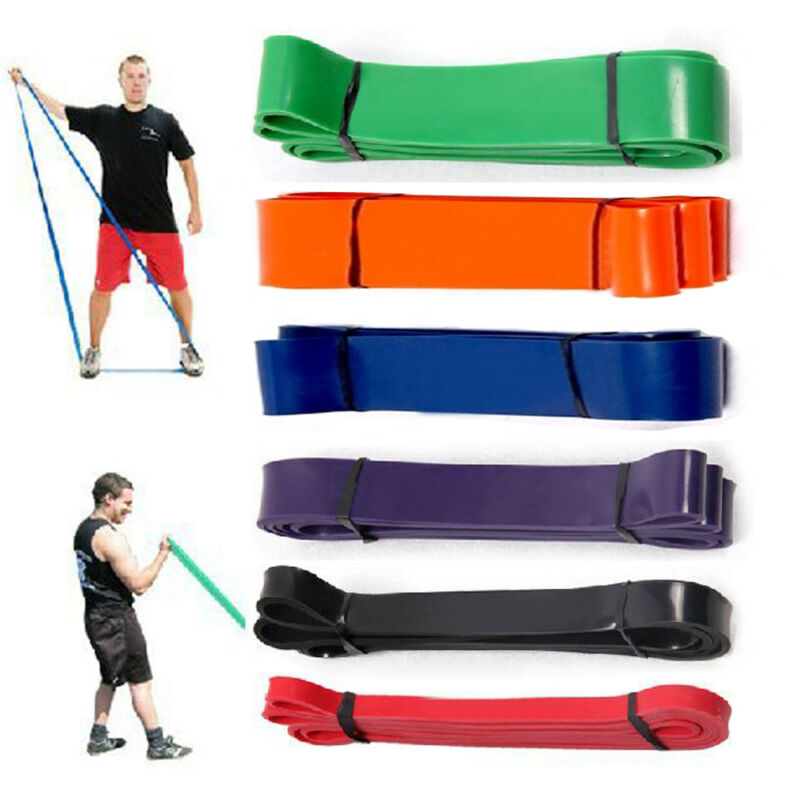 Heavy Duty Exercise Resistance Bands Fitness Pull Up Loop Set Yoga Tension Band Home Yoga Gym Strength Weight Training Power