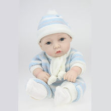 Boneca Baby Realista – jouet de bain en Silicone, fait à la main, 28cm