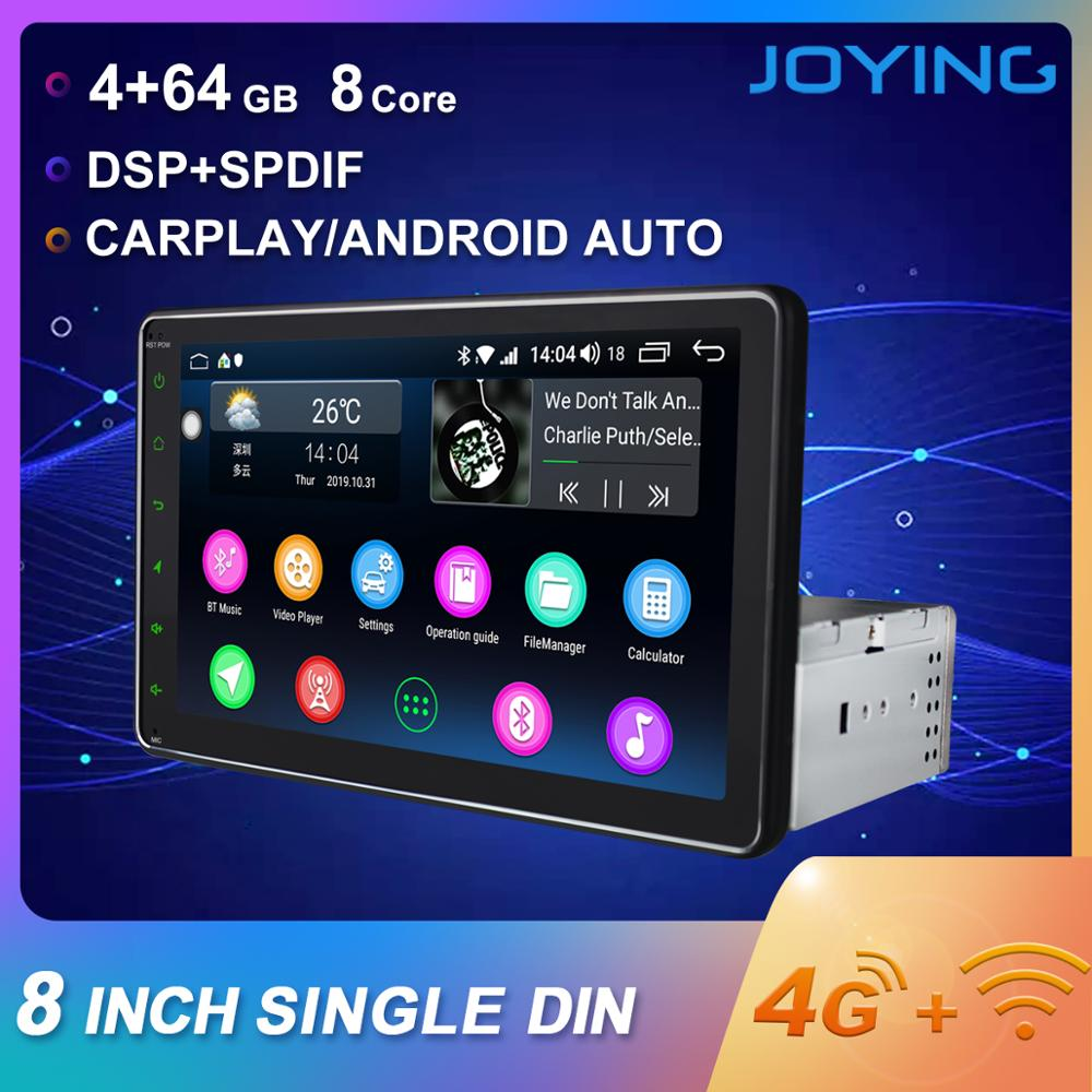 JOYING Android 8.1 car radio 1 din stereo head unit Octa Core 8HD Screen 4GB ram 64GB ROM support 4G DSP Split Screen SWC audio image