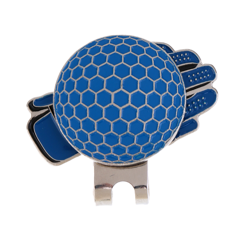 Funny Glove Design Golf Hat Clip With Magnetic Ball Marker Golfer Gift