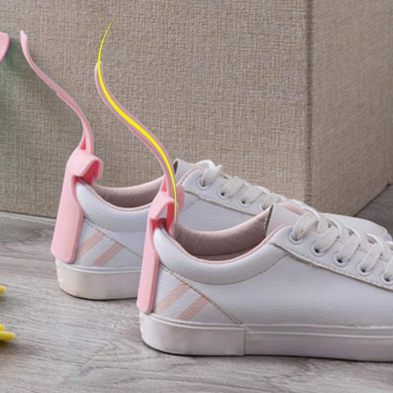 1 pieza hogar perezoso zapato cuerno Unisex zapatos usar auxiliar colorido calzador fácil encendido y apagado zapato resistente deslizamiento ayuda calzado Accesorios