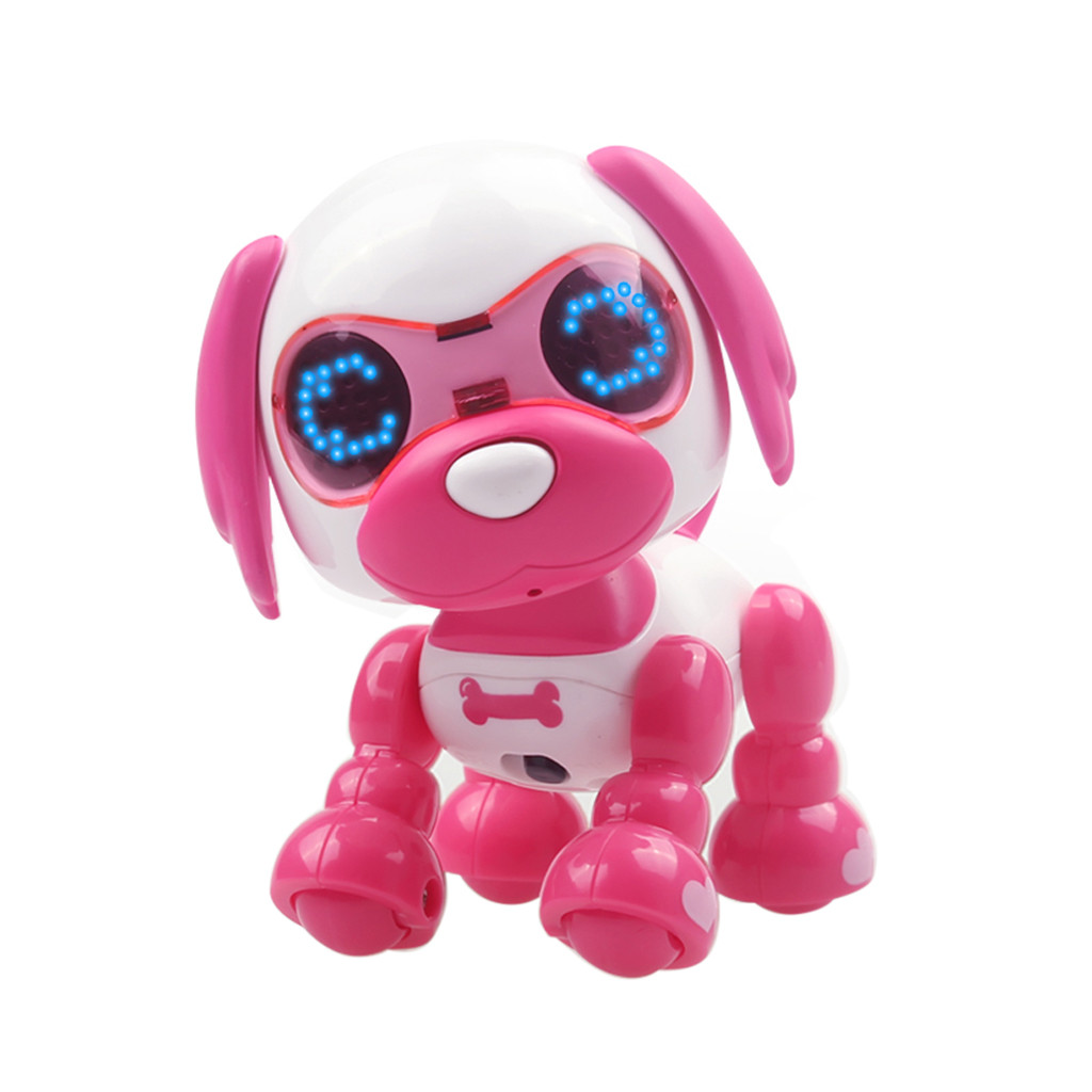 Jouets électroniques Robot Jouet Intelligent Uinteractif Intelligent Chiot Robot Chien Led Yeux Enregistrement Sonore Chanter Sommeil Mignon Belle