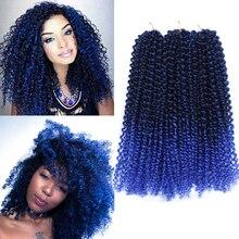 12 Inch Marlybob Crochet Hair 3 Bundles/lot Synthetic Crochet Braiding