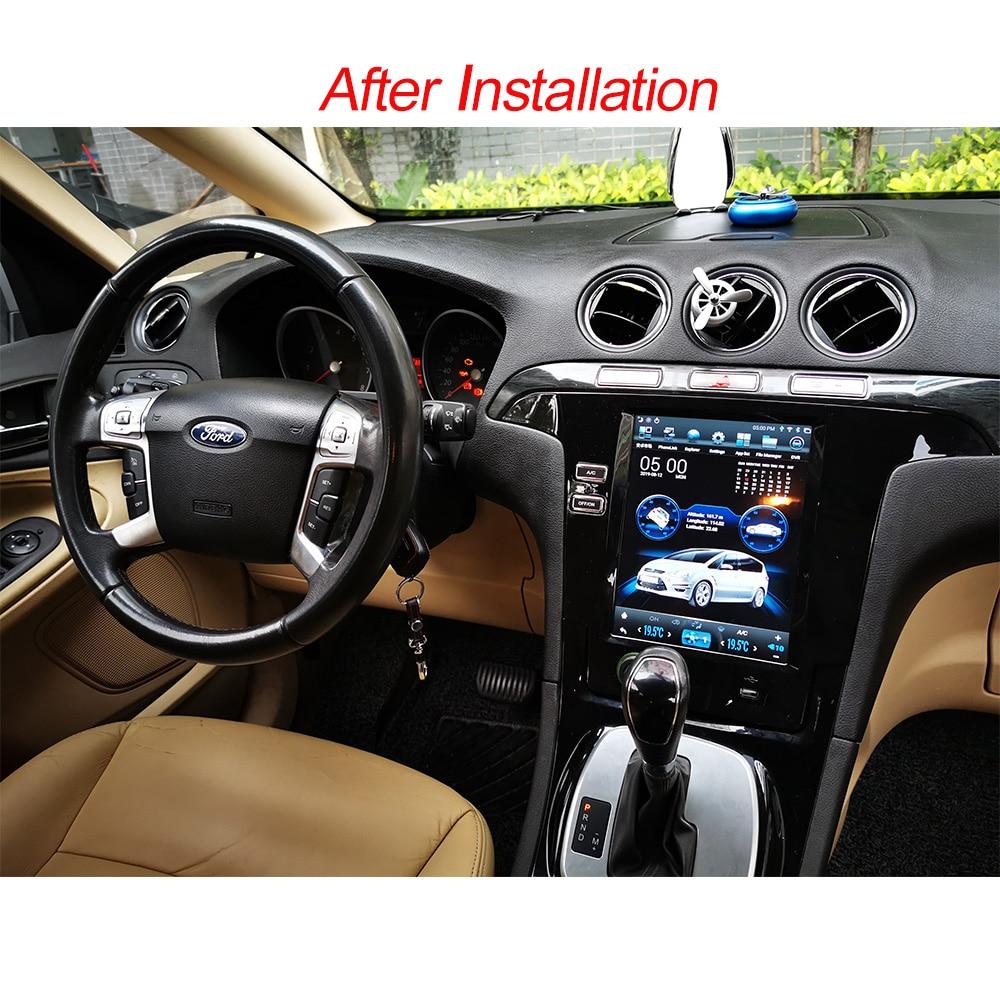 Tesla Android 8.1 DIN voiture GPS navigation radio pour Ford Smax/s-max/Galaxy 2007-2015 voiture multimédia lecteur stéréo autoradio audio
