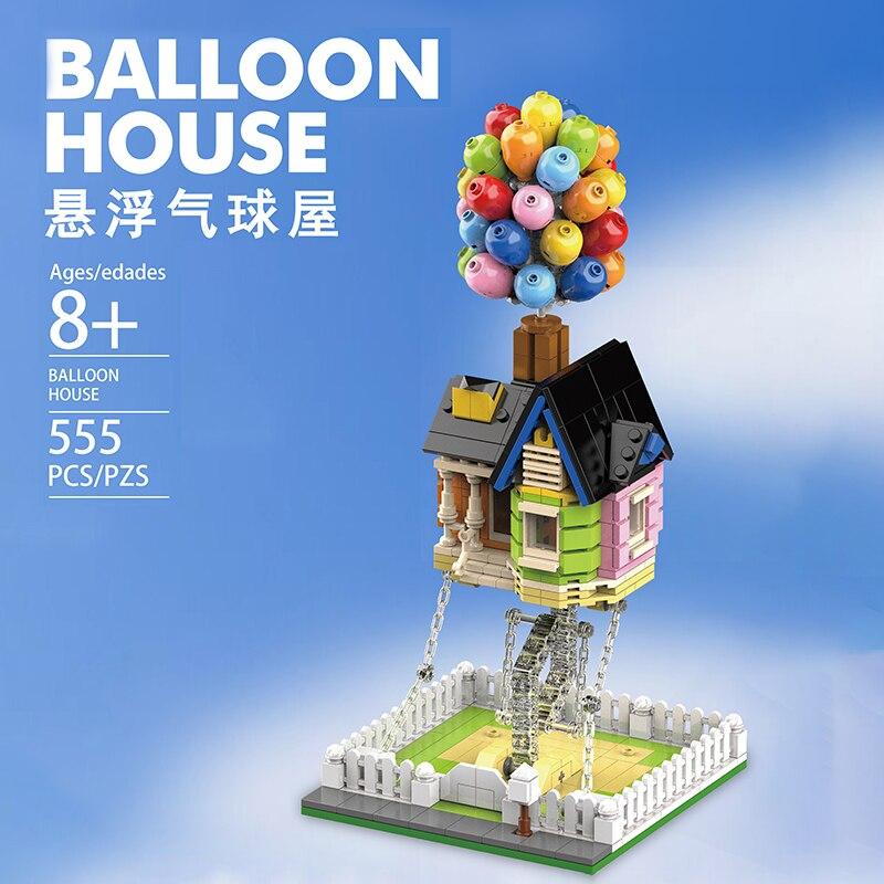 Новый конструктор MOC воздушный шар дом Tensegrity скульптуры анти-тяжесть динамическая физика баланс строительные блоки Набор классические кир...