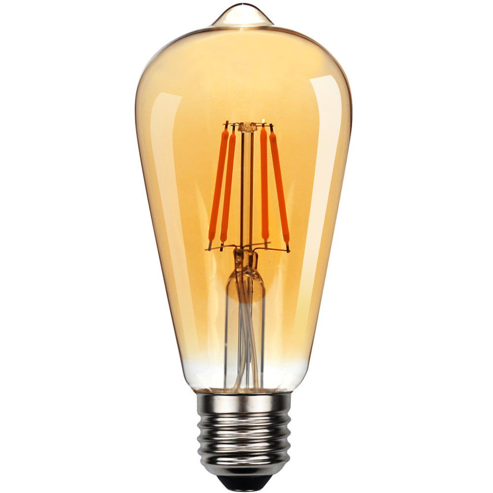 Эдисон светодиодный лампы Винтаж каблуков в стиле ретро декоративные настольные лампы E27 220V 4W 6W 8W СВЕТОДИОДНЫЙ нити ампулы T45 A60 ST64 G80 G95 Антич...