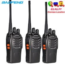 Baofeng Walkie Talkie 888S, 6km, Radio bidireccional, bf 888s, 5W, transmisor FM, bf888s, interfono Comunicador de juguete, 3 uds.