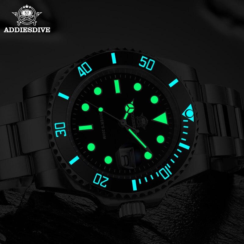 1986 Leather For Men NATO Nylon Steel diving watch 200m C3Super luminous Sport luxury stainless steel watch  Quartz Men's Watch 6